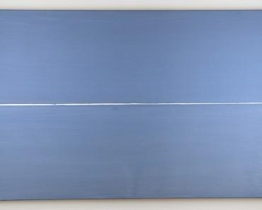 ASSE, Geneviève - Ligne blanche, 2009 Peinture, 60 x 92 cm Huile sur toile Oeuvre unique signée et datée par l'artiste au dos