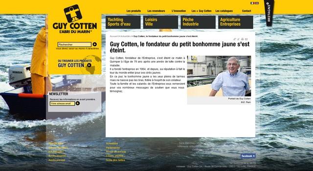 Guy Cotten, le père du ciré jaune est décédé