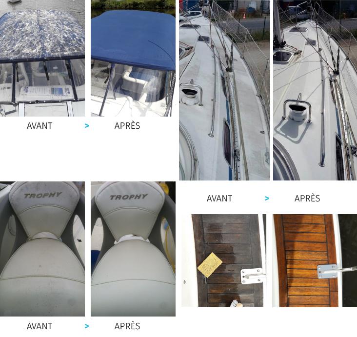 Kerboat nettoyage - avant/apres