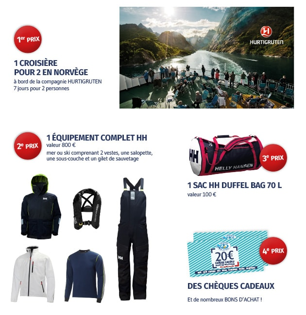 lots jeu-concours Helly Hansen 2017