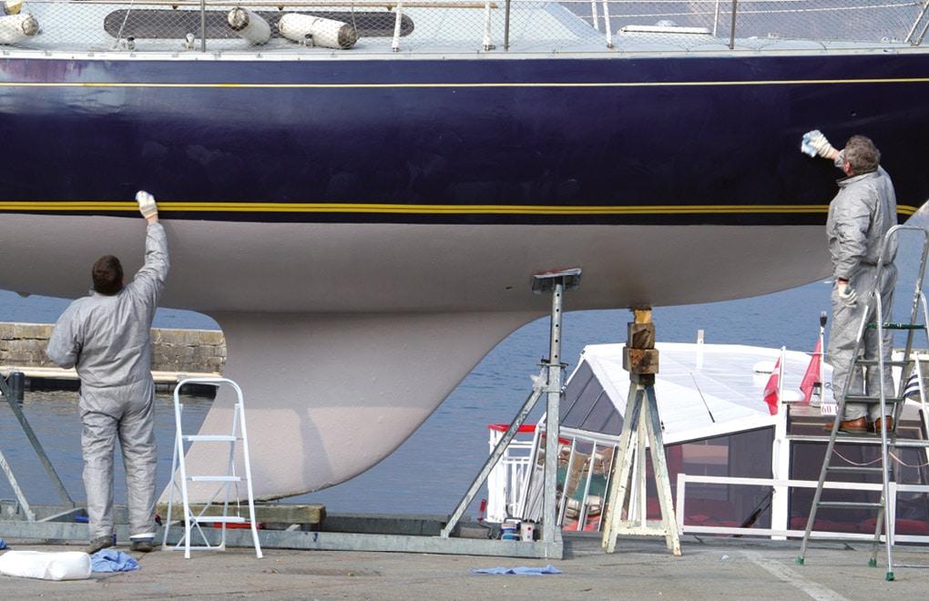 nautisme - repeindre un bateau