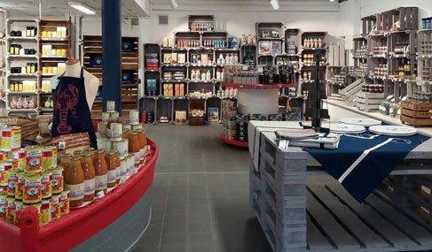 Intérieur du magasin Comptoir de la mer - Le Guivinec