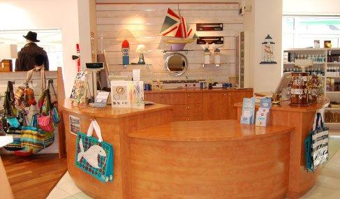Intérieur du magasin Comptoir de Noirmoutier