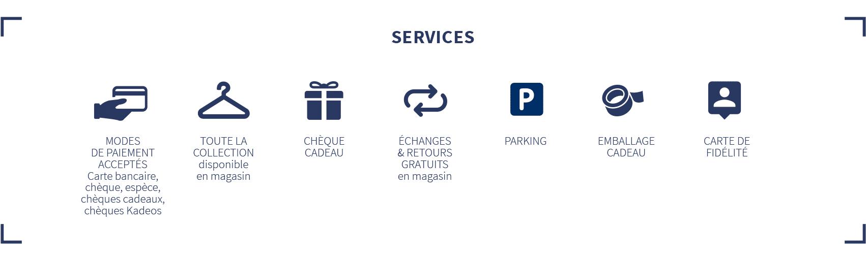 services proposés en magasin Loctudy