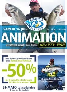 Affiche animation pêche Comptoir de la mer St-Malo - La Madeleine