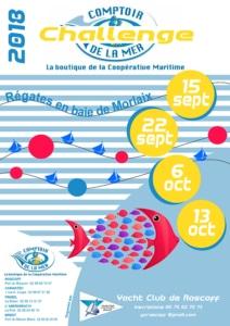 affiche Yatching clu de Roscoff - challenge Comptoir de la mer