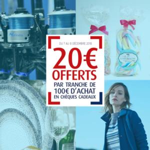 20 euros offerts - décembre 2018