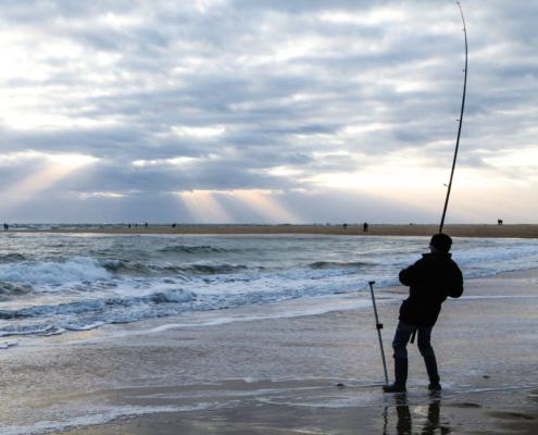 pêcheur - bord de mer