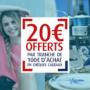 15 et 16 mars : 20€ offerts par tranche de 100€ en chèques cadeaux