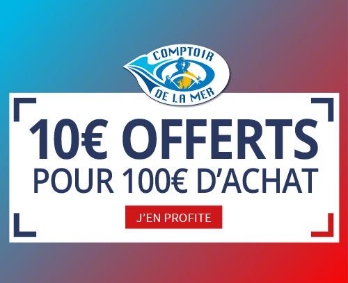 Profitez de 10 euros dès 10 euros d'achat