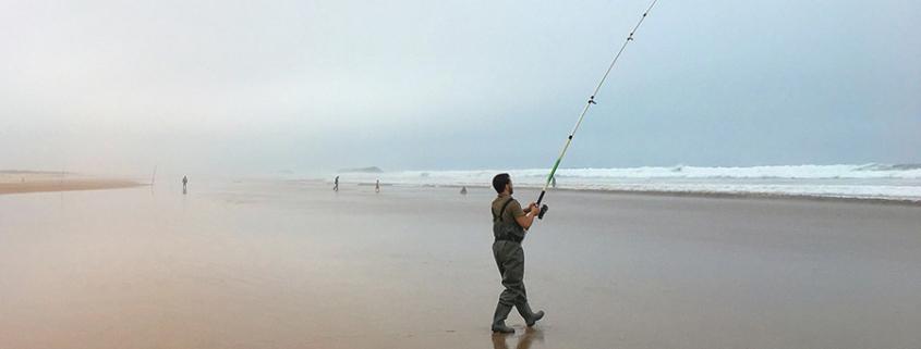 pêche en mer - bord de l'eau