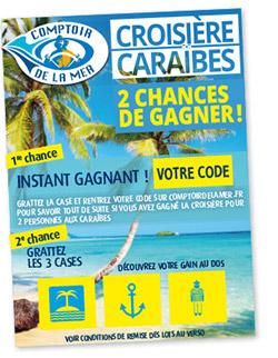 jeu-concours Caraïbes - ticket à gratter