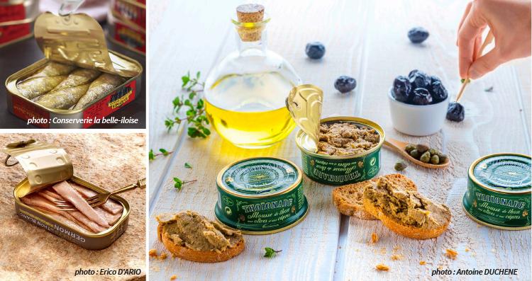 conserves la Belle Iloise : sardines, thon, maquereau
