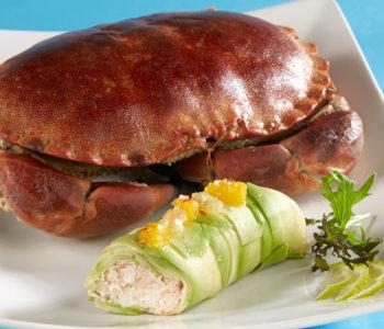 recette 2020 décembre - Cannelloni de crabe, avocat et orange sanguine