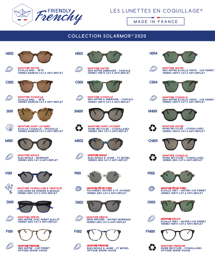 Friendly Frenchy collection de lunettes