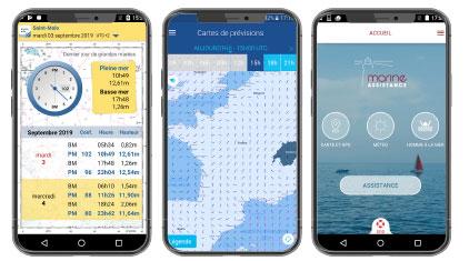 applications mobile pour le nautisme