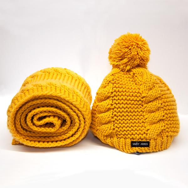 bonnet écharpe en laine chaude