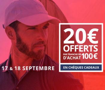 20 euros offerts dès 100 euros d'achat